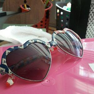 Red, White & Blue Heart Sunglasses